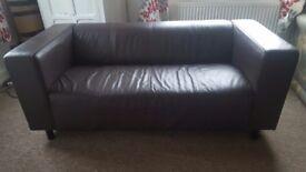 Sofa with detachable legs £10