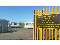 Static caravans & touring vans sales from £350