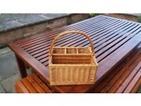 Picnic Basket with Bottle Compartment
