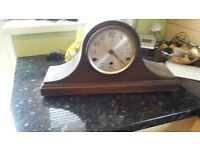 2 old antique clocks with keys to wind up