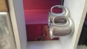Pewter horn mugs