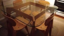 Habitat Retro Dining Table & 4 Chairs