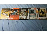 PC Games: falcon allied force, half life 2 ep1 & 2, portal, ghost recon, rainbow six 3, vietcong