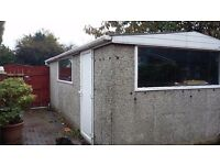 Concrete Sectional Garage 21ft 9 ins length x 10ft 9ins wide
