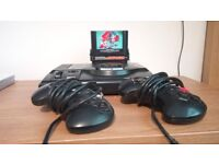 First Gen Sega Megadrive, 2 Controllers, Sonic 2 and Sonic and Knuckles Expansions Game