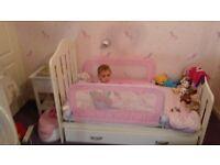 Mamas and papas cot bed and storage drawer +mattress