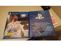 Fifa 18 PS4 New & Sealed with FUT Rare players pack & 3 ICON loan players PlayStation 4