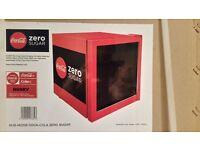 HUSKY COCA-COLA ZERO MINI FRIDGE (Brand new - lowest price!)