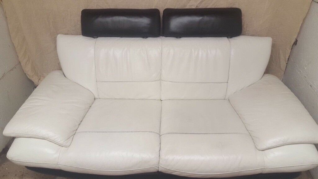 DFS 2 seater settee and footstool