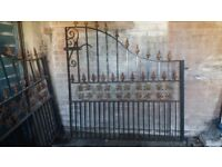 SET OF CAST IRON DRIVEWAY GATES