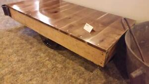 Industrial Antique Cart COFFEE Table Just arrived RESTORED ready for Christmas Black Cherry