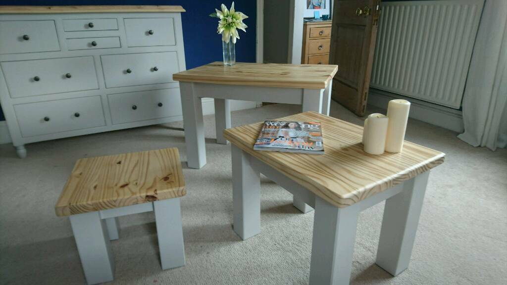 Chunky Pine Coffee Tables Set Of In Roundhay West Yorkshire - Pine coffee table set