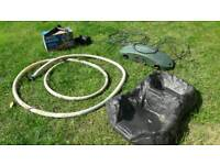Complete pond pump. Filter uv lamp and waterfall feature