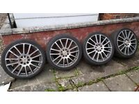 4 Alloys & Tyres off a ford Fiesta 205x40 x17