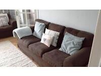 ikea 3 seater and 2 seater fabric sofa's