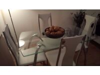 DINING TABLE AND 4 CHAIRS FOR COLLECTION BERMONDSEY