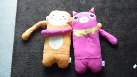 "Cat and Monkey ""mr popo"" soft toys"