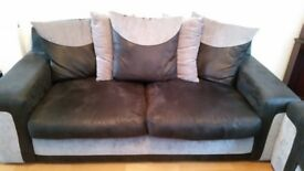 3 Seated SCS Large Sofa Black/Gary used (very good condition)-used