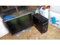 Spares or repair tower and dell monitor