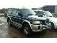 MITSUBISHI SHOGUN SPORT GLS 2.5TDI COMPLETE JEEP 4X4 FOR BREAKING PARTS OR SELL COMPLETE