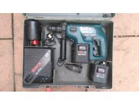 Bocsh gbh24v sds plus drill with 3bateries charger and case in working order!Can deliver or post!