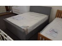 Julian Bowen Capri Grey Fabric King Size Bed 2 Storage Drawers (BED ONLY) Can Deliver