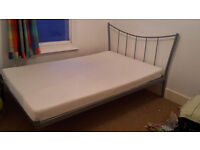 Small double bed with memory foam mattress - free