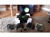 Old Xbox With Controllers