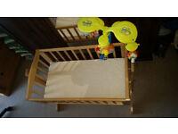 Baby Cot with Matress and Cot mobile