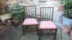 Pair of Oak side / bedroom chairs