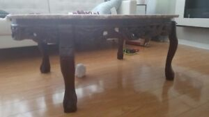 Used marble coffee table