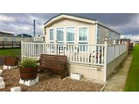 Luxury caravan rent hire Ingoldmells Skegness Easter with decking and washing machine