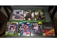 Selection of xbox one games for sale