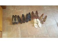 ladies shoes size 5. 6 pairs