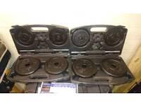 Two sets of 10kg York dumbells