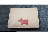 New & Unused Pastel Pink Radley Credit Card Holder Wallet