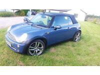 2004 Mini Cooper Convertible, very good condition. 110k miles. FSH. Special colour.