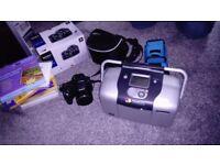 Sony cybershot camera and photo printer