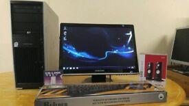"HP XW4400 Workstation Computer Desktop PC & Samsung Synmaster 20"" HD LCD"