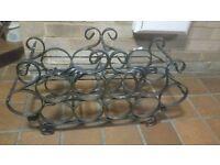 Heavy wrought iron wine rack