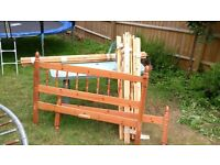 Double pine bed - can deliver