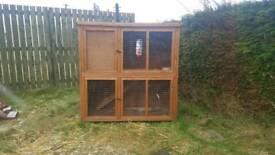 2 storey rabbit hutch