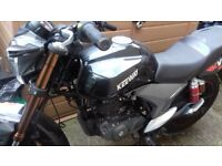 Keeway 125 RKV. Nice bike will suit new rider. Under 3000 miles on clock.
