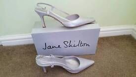 Silver Leather shoes Size 6