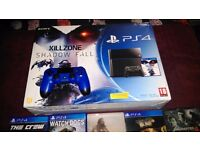 PS4 500gb with 10 games