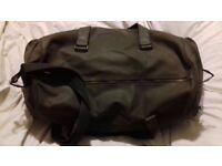 Men's Camel Leather Duffel Bag.