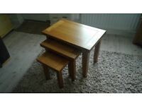Solid Oak Nest Of Tables Immaculate Condition