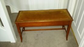 Beautiful antique piano stool with storage. Duet/double size.