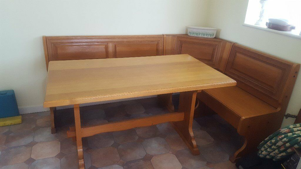 Oak Dining Table With Matching L Shaped Bench Seat Unit With Storage In Seaton Devon Gumtree