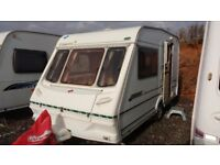 2 Berth Swift/Abbey Caravan. End kitchen. Inc. motor mover and awning.
